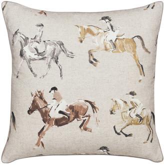Jockey Eastern Accents Equestrian Decorative Pillow
