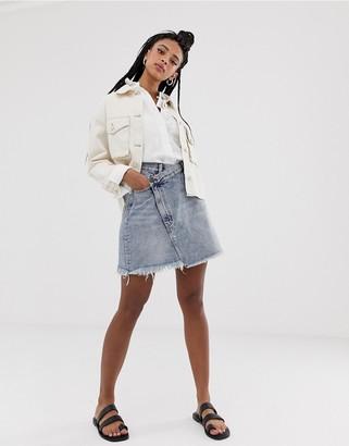 Cheap Monday Slant denim skirt-Blue