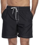 Croft & Barrow Men's Solid Microfiber Swim Trunks