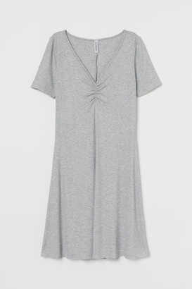 H&M Ribbed Dress - Gray