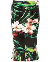 Dorothy Perkins Tropical Floral Peplum Hem Tube Skirt
