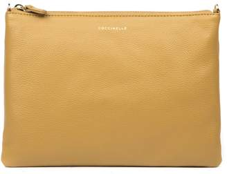 Coccinelle Camel Leather Crossbody Bag