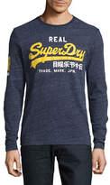 Superdry Long Sleeve Logo Print Grit T-Shirt