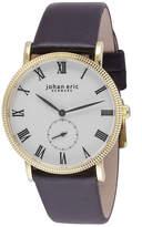 Johan Eric Men's Holstebro Quartz Black Leather Strap Watch