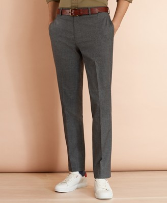 Brooks Brothers Cotton-Blend Houndstooth Trousers