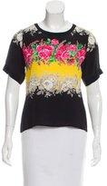 Prabal Gurung Floral Print Silk Top