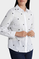 Starry Night Embellished Roll Up Sleeve Shirt