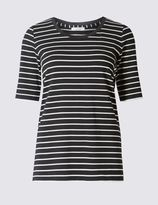 Marks and Spencer Striped Jersey Top