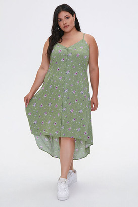 Forever 21 Plus Size Floral High-Low Dress