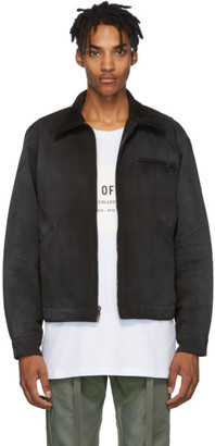 Fear Of God Black Canvas Work Jacket