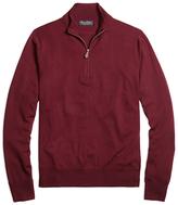 Brooks Brothers Saxxon Wool Half-Zip Sweater