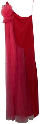 DELPOZO Red Viscose Dresses