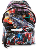 Moschino Small Transformers Printed Leather Backpack