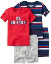 Carter's 4-Pc. Mr. Independent Cotton Pajama Set, Toddler Boys (2T-5T)