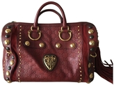 Gucci Burgundy Leather Handbag Boston