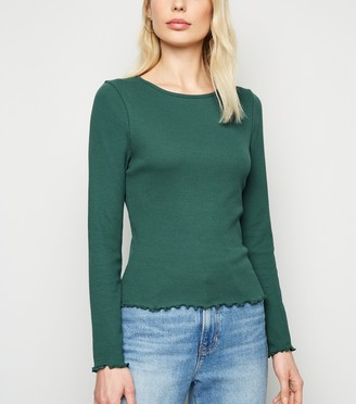 New Look Ribbed Long Sleeve Top