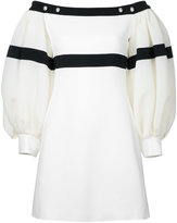 David Koma loose-fit sleeves off-shoulders dress - women - Spandex/Elastane/Acetate/Viscose - 10