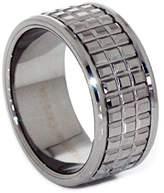 Panvisionary Men's 12mm Natural Sparkling Waffle-Cut Tungsten Carbide Wedding Band Ring 13