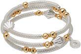 JLO by Jennifer Lopez Two Tone Beaded Mesh Coil Bracelet