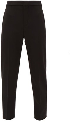 Chloé High-rise Cropped Wool-blend Trousers - Black