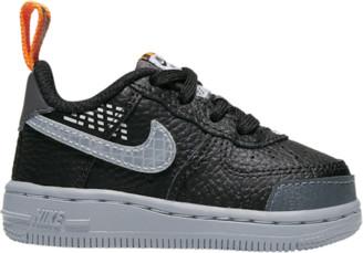 Nike Force 1 Low Basketball Shoes - Black / Wolf Grey Dark