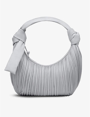 Neous Neptune pleated leather hobo bag