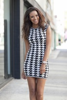 Torn By Ronny Kobo Erin Houndstooth Dress