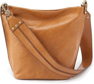 Hobo Flare Leather Bucket Bag