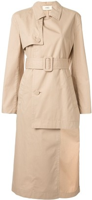 Ports 1961 uneven length trench coat