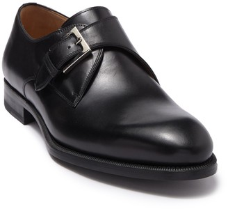Magnanni Brodie Leather Monk Strap Dress Shoe