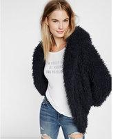 Express hooded sherpa wedge jacket
