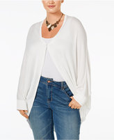 Melissa McCarthy Trendy Plus Size One-Button Cardigan