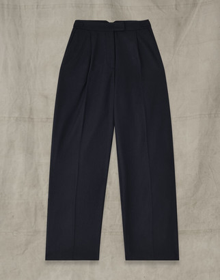 Belstaff RUSSETTA WOOL TROUSERS Blue UK 8 /