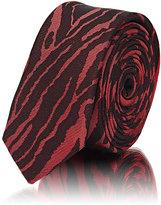 Lanvin Men's Animal-Print Skinny Necktie-RED