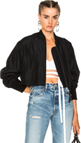 Alexander Wang Silk Cotton Cropped Bomber