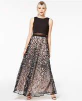 Say Yes to the Prom Juniors' Sequined Grid Popover Gown, Created for Macy's