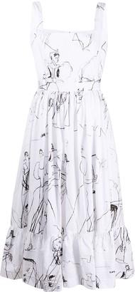 Alexander McQueen Illustration Print Dress