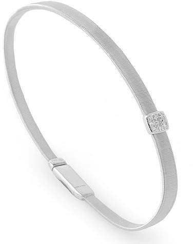Marco Bicego Masai 18K White Gold Bracelet with Diamond Station