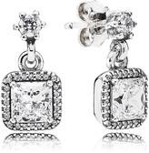 Pandora Earrings - Sterling Silver & Cubic Zirconia Timeless Elegance