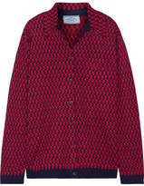 Prada Intarsia Wool Shirt - Red