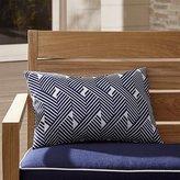 Crate & Barrel Knot Striped Outdoor Lumbar Pillow