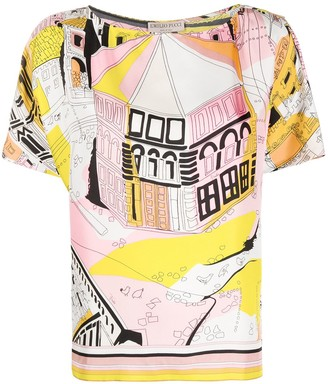 Emilio Pucci Battistero print silk blouse