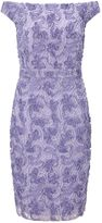 Ariella Nora Off the Shoulder Textured Midi Dress