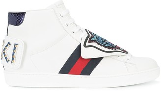 Gucci Ace High-top Tiger Sneakers