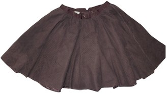 Gucci Burgundy Synthetic Skirts