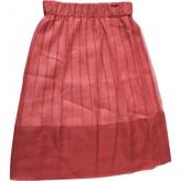 Louis Vuitton Red Silk Skirt