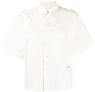 Ami Paris Petal Short-Sleeve Shirt