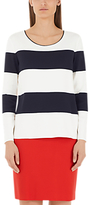 Marc Cain Wide Stripe Jumper, Navy/White