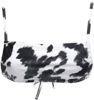 WeWoreWhat Leigh Cow Printed Bikini Top