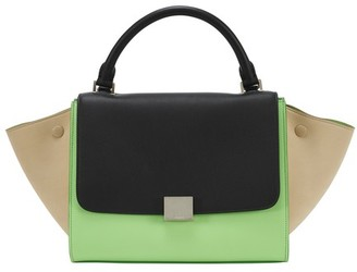 Celine Small Trapeze Handbag In Smooth Calfskin